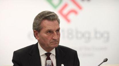 Еврокомисар Гюнтер Йотингер