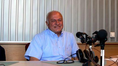 """Проф. Петър Гецов, директор на Института за космически изследвания и технологии към БАН, в студиото на програма """"Христо Ботев""""."""