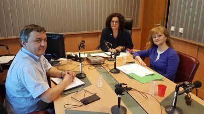 """Николай Йорданов, Михайлина Павлова и д-р Антонина Кардашева (отляво надясно) в студиото на програма """"Христо Ботев"""""""