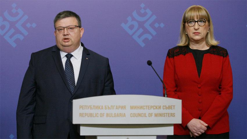 Prokurori i Përgjithshëm Sotir Cacarov dhe Ministrja e drejtësisë Cecka Caçeva
