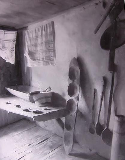 Körpevler evinde hamur karma teknesi, Kotel, 1872