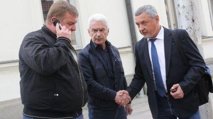Красимир Каракачанов, Волен Сидеров и Валери Симеонов