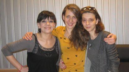 Нина Станева, Калина Станева и Михаела Петрова (отляво надясно)