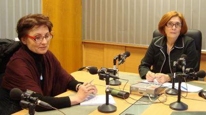 Цвета Антонова (вляво) и Цвета Николова в студиото на програма