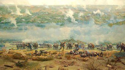 """Фрагмент от живописното платно в панорама """"Плевенска епопея 1877 година"""""""