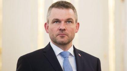 Вицепремиерът Петер Пелегрини, след като получи мандат за съставяне на ново правителство.