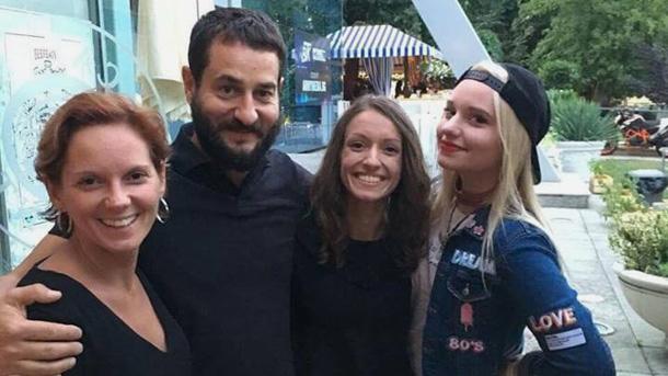 Ади, Милен, Стефани и Милена Цанови (отляво надясно).