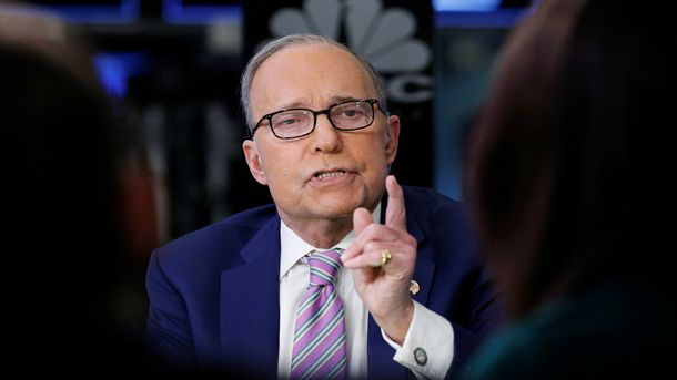 Икономическият съветник на Белия дом Лари Къдлоу потвърди в четвъртък,