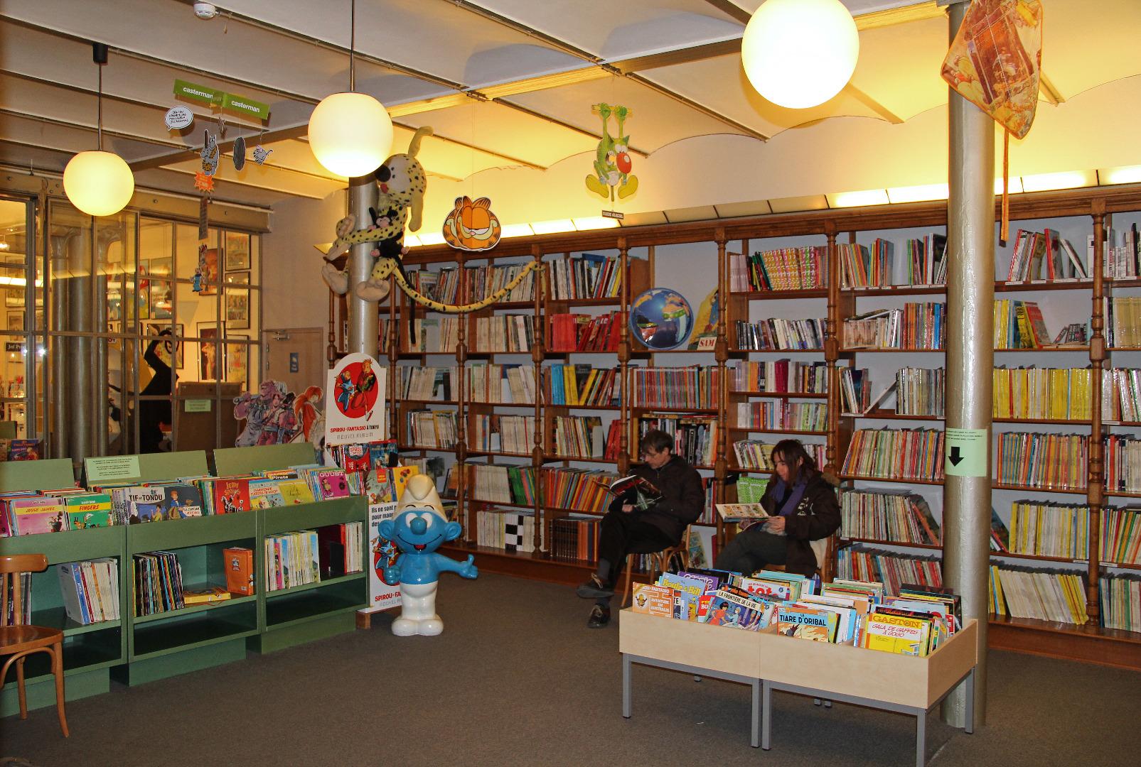 В читалнята на музея, отворена за малки и големи