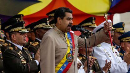 Президентът на Венецуела Николас Мадуро на военен парад в Каракас