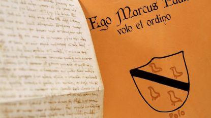 Реплика от завещанието на Марко Поло, която е изложена в Рим.