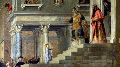 """""""Въвеждане на Пресвета Богородица в храма"""", Тициан, 1534 – 1538"""