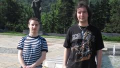 Том Атанасов и Петър Василев- организатори на фестивала за компютърни игри във Враца
