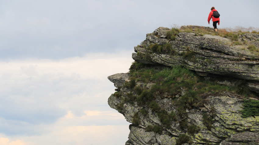 Felsenprofil, Tschelopetschka-Baba-Gipfel, Balkangebirge