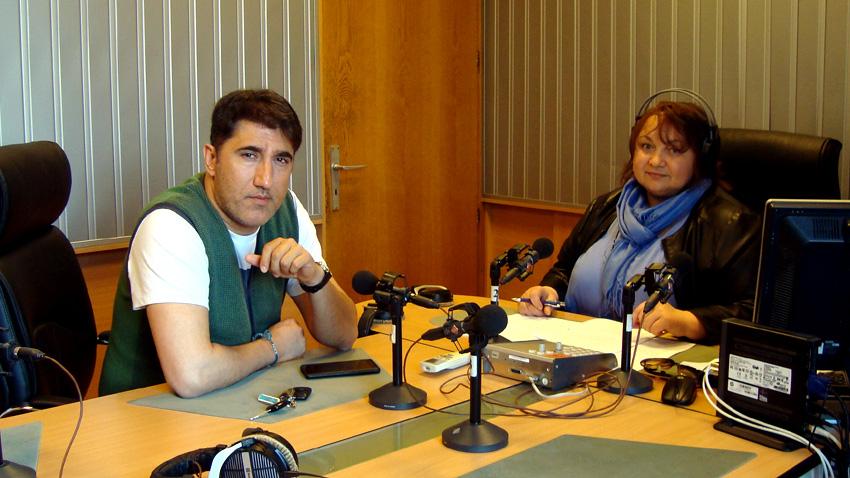 "Башар Рахал и Дарина Маринова в студиото на програма ""Христо Ботев""."