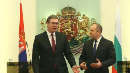 Aleksandar Vučić und Rumen Radew