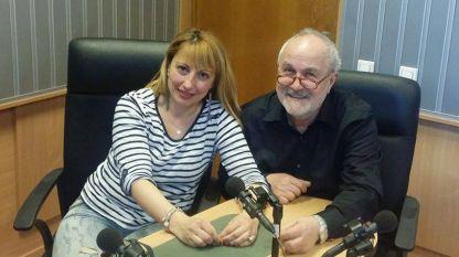 """Мария Мира Христова и Кирякос Аргиропулос в студиото на """"Нашият ден""""."""