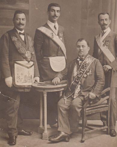 Masones de la logia Estrella de Salónica