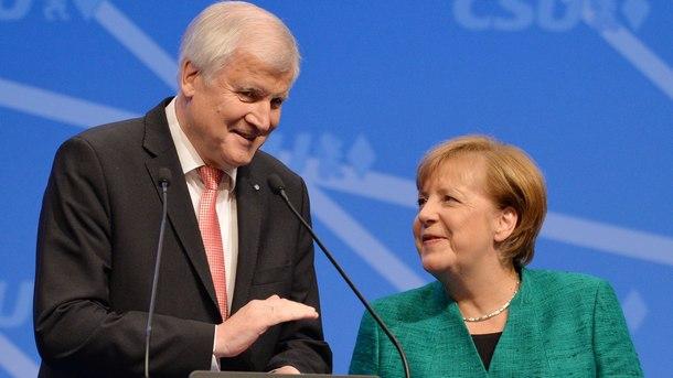 Хорст Зеехофер и Ангела Меркел