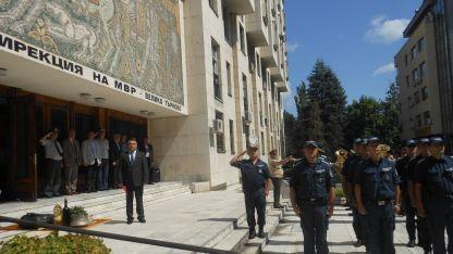 Освещаване на сградата на МВР Велико Търново