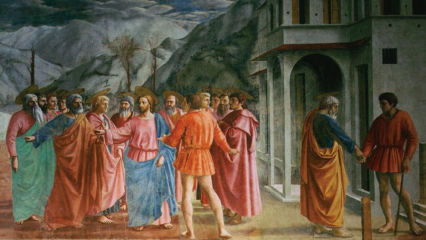 Фреска на Мазачо от капела Бранкачи