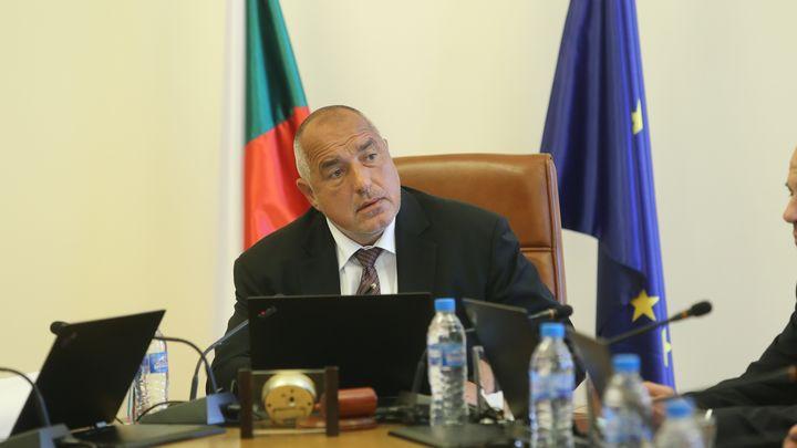 Премиерът Бойко Борисов на днешното заседание на Министерския съвет.