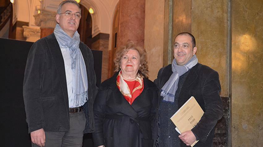 Dimitris Lusikiotis /à droite/, Axinia Djourova et Nikolaos Merdzimekis
