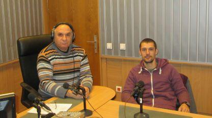 """Симеон Идакиев и Вилиан Стефанов (вдясно) в студиото на програма """"Христо Ботев""""."""