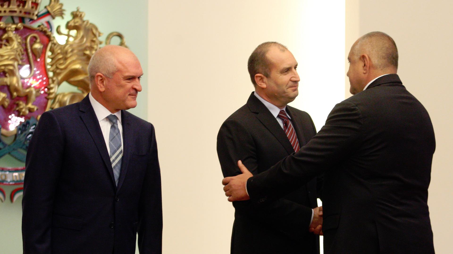 Димитър Главчев, Румен Радев и Бойко Борисов