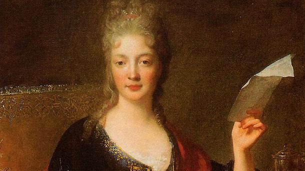 Портрет на Елизабет Жаке дьо ла Гер (фрагмент от картина на Франсоа де Трой).