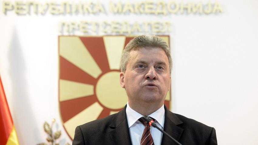 Македонският президент Георге Иванов очаква България да подкрепи незабавно започване