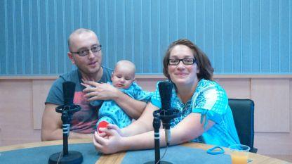 """Милен, Любомира и синът им Дим в студиото на """"Моето семейство""""."""