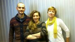 Цветан Стефанов, водещата Калина Станева и Анна Векова
