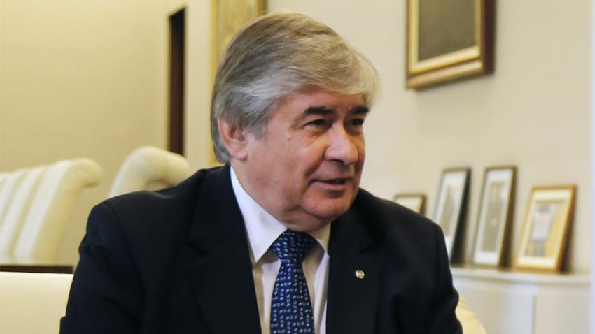 """""""Politische Kontakte tragen zur Lösung wirtschaftlicher Fragen bei"""", ist Botschafter Makarow überzeugt."""