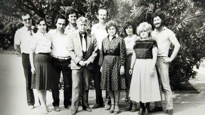 Екипът на Радио Шумен. Соня Любомирова - първата вляво.