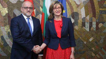 Екатерина Захариева се срещна с черногорския си колега Сърджан Дaрманович