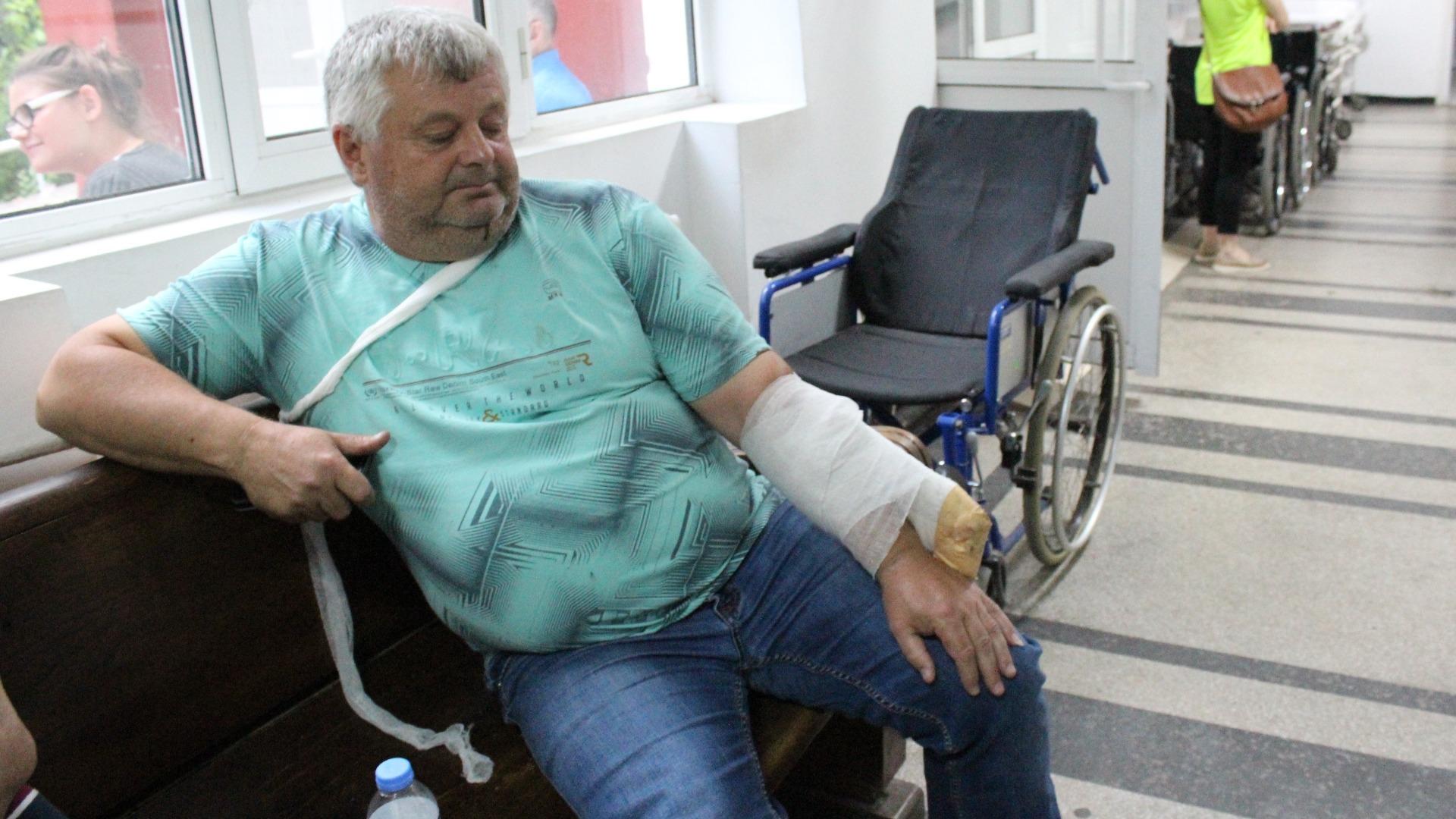 Пострадал от катастрофата в Симеоновград