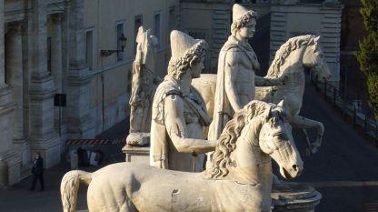 Късноантични статуи на Диоскурите в Рим