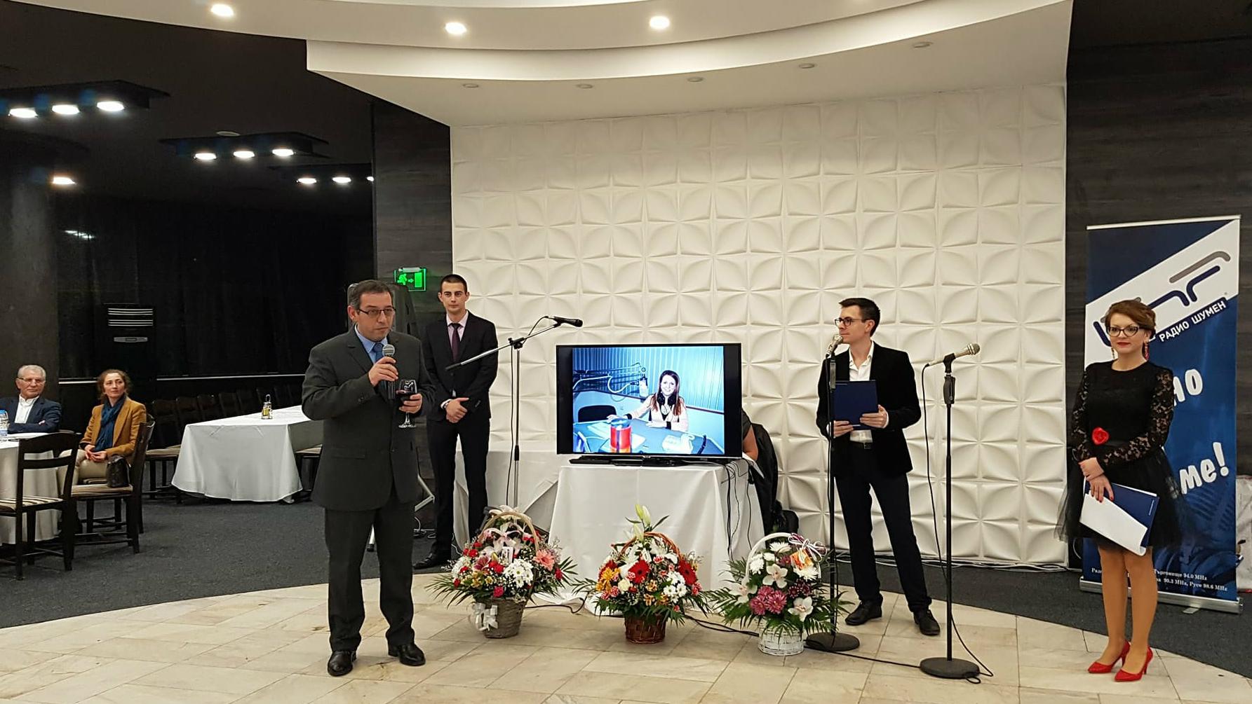 Ангел Трайков приветства колегите и гостите на медията
