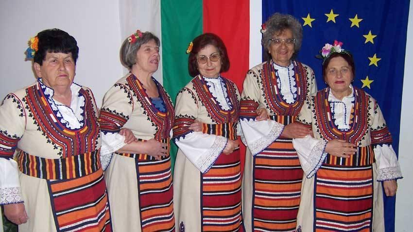 """Женска певческа група """"Надежда"""" от читалище """"Напредък"""", Радомир."""