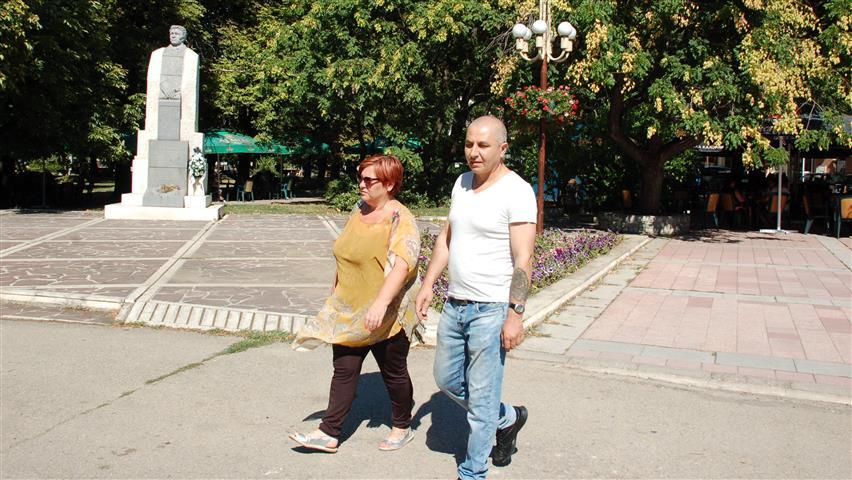 Иво Богданов със съпругата си Снежина