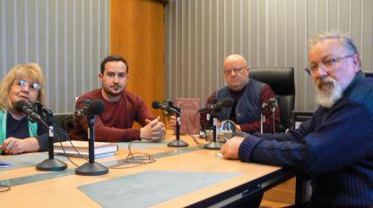 Проф. Лилия Илиева, Момчил Тодоров, Румен Леонидов и Цанко Серафимов