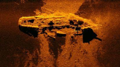Изображение на един от потъналите кораби, получено чрез сонар.