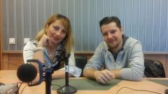 Мария Мира Христова и Димитър Живков в студиото на предаването.