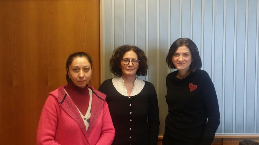 Николета Атанасова, Михайлина Павлова и Весислава Антонова (отляво надясно).