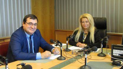 Славчо Атанасов и Анелия Торошанова в студиото на предаването.