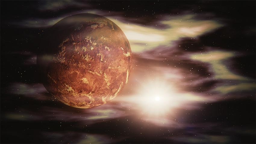 Венера е по-близко до Слънцето спрямо Земята. На Земята тя може да се наблюдава само непосредствено преди изгрев и след залез. Обикновено тогава тя е най-яркото небесно тяло след Луната и Слънцето и затова понякога често е смятана за звезда и е наричана Зорница, Денница (Деница) и Вечерница.