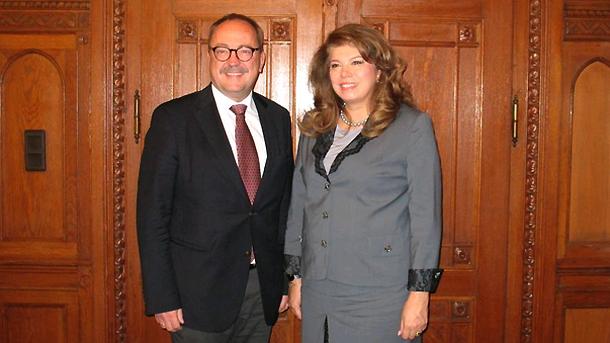 Miklós Soltész und Ilijana Jotowa