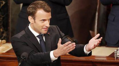 Френският президент Еманюел Макрон пред Конгреса в САЩ