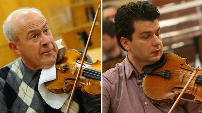 Минчо Минчев и Александър Земцов (вдясно на снимката)